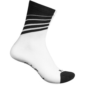 GripGrab Racing Stripes Calcetines, white/black